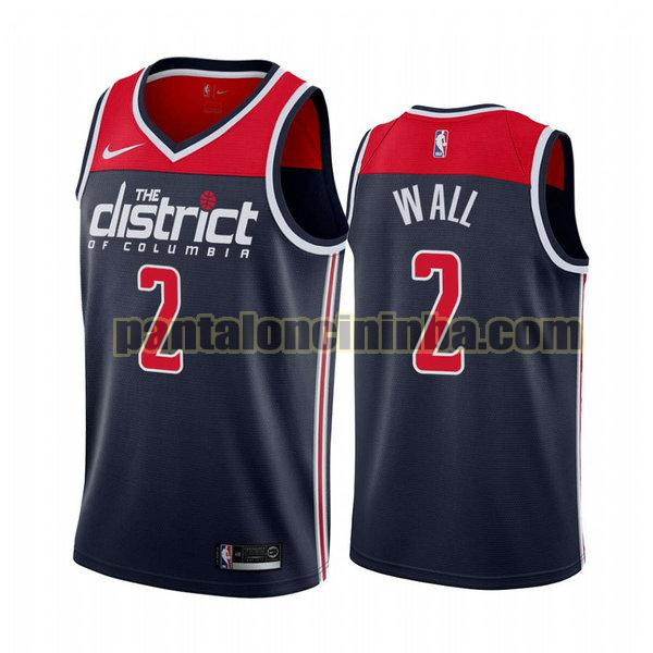Canotta Uomo basket John Wall 2 Washington Wizards Blu City Edition 2020