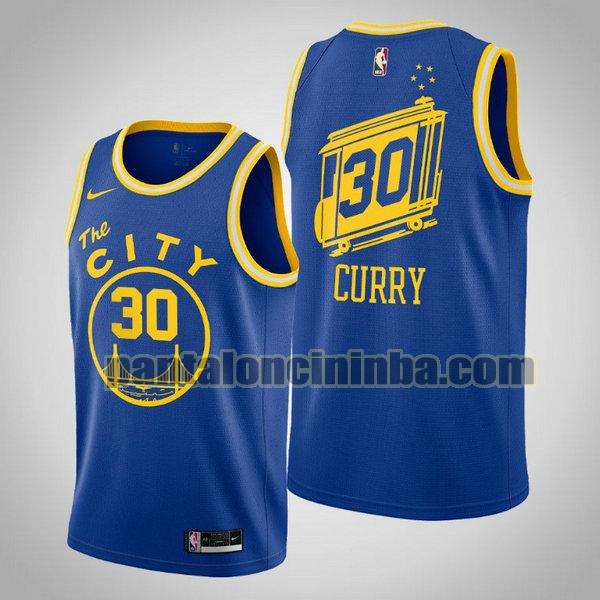 Canotta Uomo basket Stephen Curry 30 Golden State Warriors Blu 2020 21