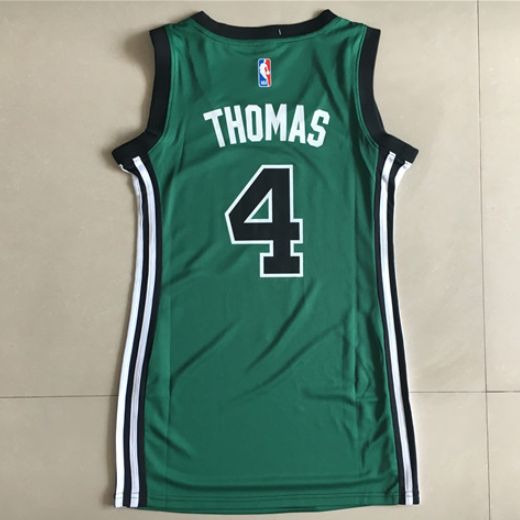 maglia basket donna boston celtics isaiah thomas 4 verde
