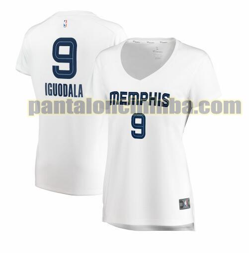 Maglia Donna basket Andre Iguodala 9 Memphis Grizzlies Bianco association edition