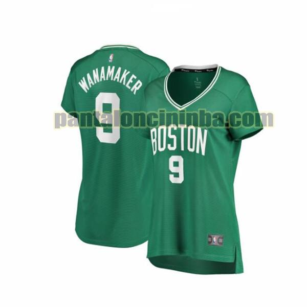 Maglia Donna basket Brad Wanamaker 9 Boston Celtics Verde icon edition