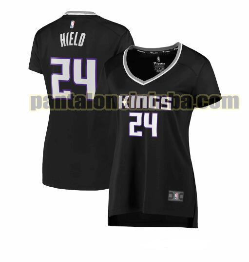 Maglia Donna basket Buddy Hield 24 Sacramento Kings Nero statement edition