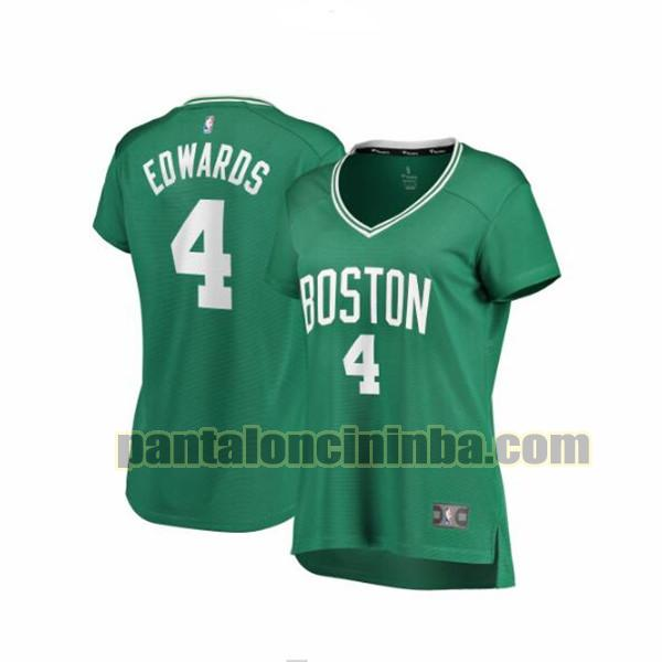 Maglia Donna basket Carsen Edwards 4 Boston Celtics Verde icon edition