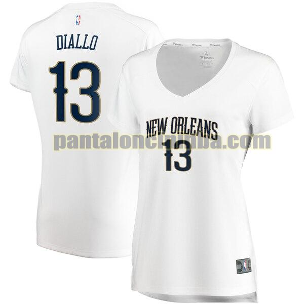 Maglia Donna basket Cheick Diallo 13 New Orleans Pelicans Bianco association edition