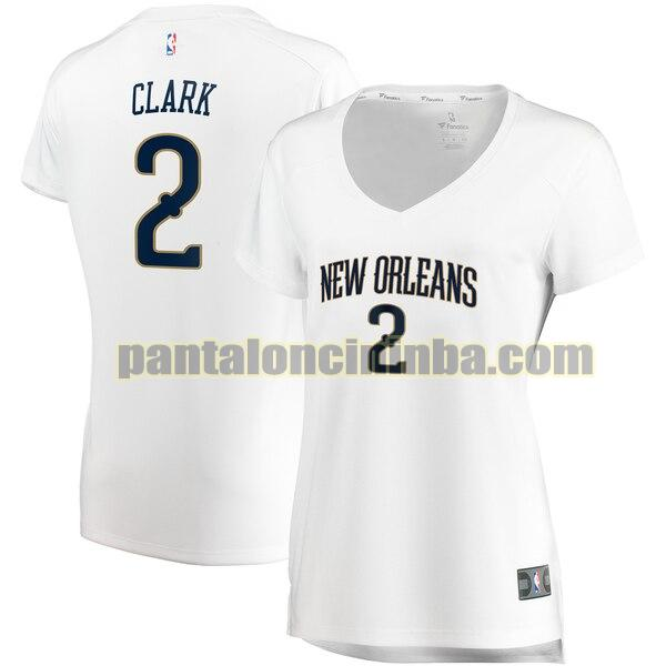 Maglia Donna basket Ian Clark 2 New Orleans Pelicans Bianco association edition