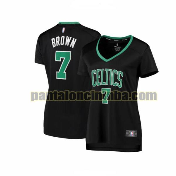 Maglia Donna basket Jaylen Brown 7 Boston Celtics Nero statement edition