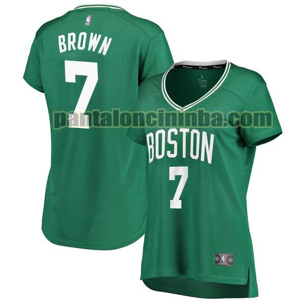 Maglia Donna basket Jaylen Brown 7 Boston Celtics Verde icon edition