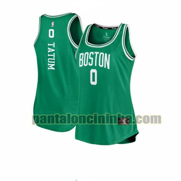 Maglia Donna basket Jayson Tatum 0 Boston Celtics Verde icon edition