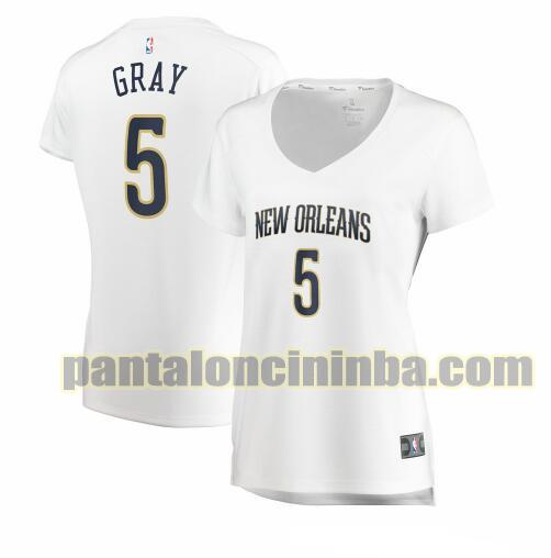 Maglia Donna basket Josh Gray 5 New Orleans Pelicans Bianco association edition