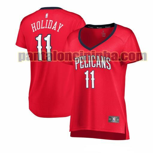 Maglia Donna basket Jrue Holiday 11 New Orleans Pelicans Rosso statement edition