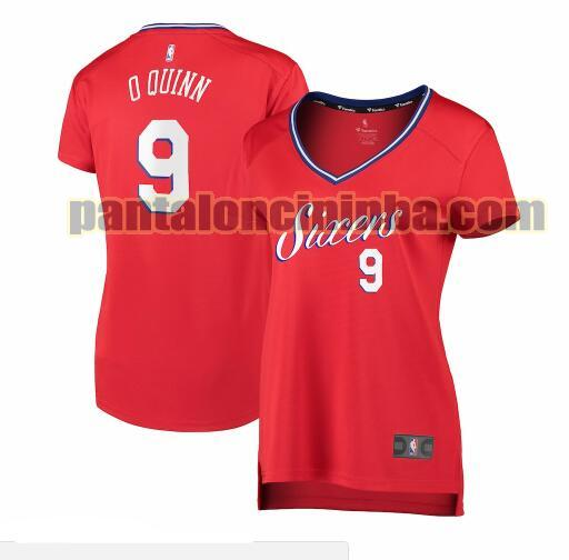 Maglia Donna basket Kyle O'Quinn 9 Philadelphia 76ers Rosso statement edition