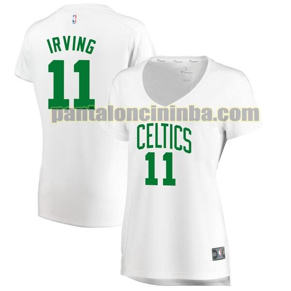 Maglia Donna basket Kyrie Irving 11 Boston Celtics Bianco association edition