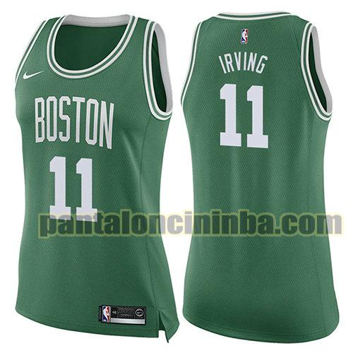 Maglia Donna basket Kyrie Irving 11 Boston Celtics Verde Icon 2017-18