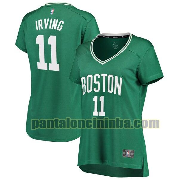 Maglia Donna basket Kyrie Irving 11 Boston Celtics Verde Replica