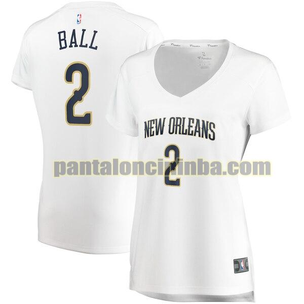 Maglia Donna basket Lonzo Ball 2 New Orleans Pelicans Bianco association edition