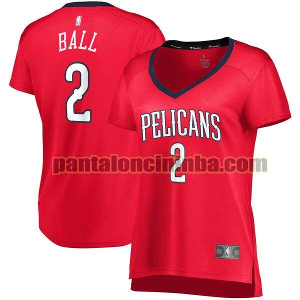 Maglia Donna basket Lonzo Ball 2 New Orleans Pelicans Rosso statement edition