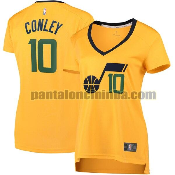 Maglia Donna basket Mike Conley 10 Utah Jazz Giallo statement edition