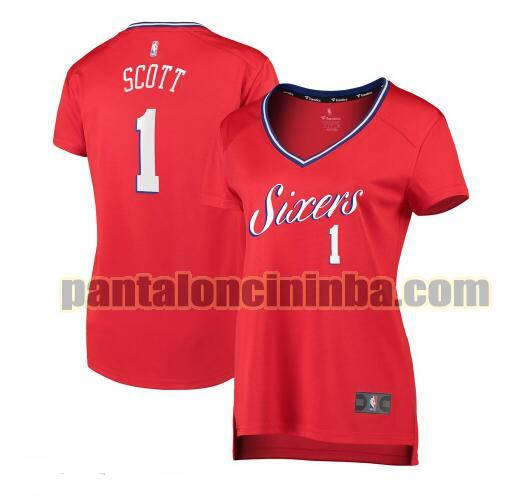 Maglia Donna basket Mike Scott 1 Philadelphia 76ers Rosso statement edition