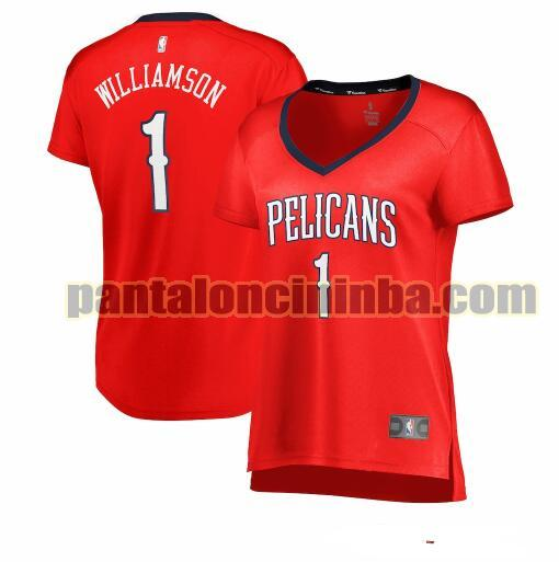 Maglia Donna basket Zion Williamson 1 New Orleans Pelicans Rosso statement edition