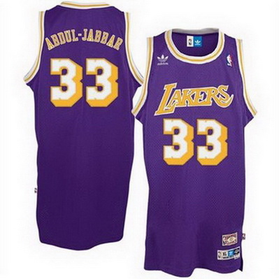 canotta nba abdul-jabbar 33 retro los angeles lakers porpora