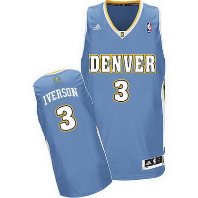 canotta nba allen iverson 3 denver nuggets retro blu