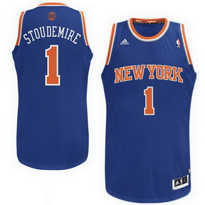 maglia nba amar'e stoudemire 1 new york knicks rev30 blu