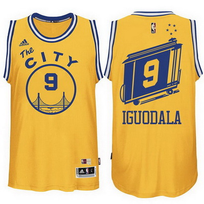 maglia andre iguodala 9 golden state warriors the city giallo