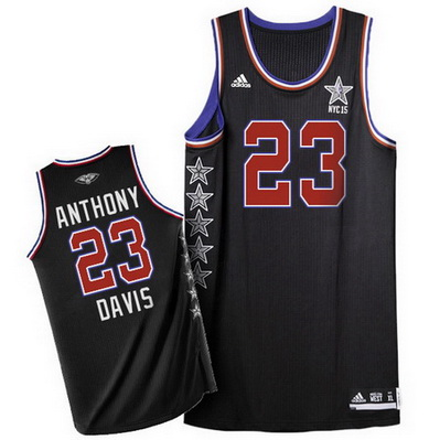 maglie basket anthony davis 23 nba all star 2015 nero