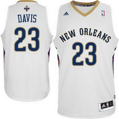 maglia nba anthony davis 23 new orleans pelicans rev30 bianca