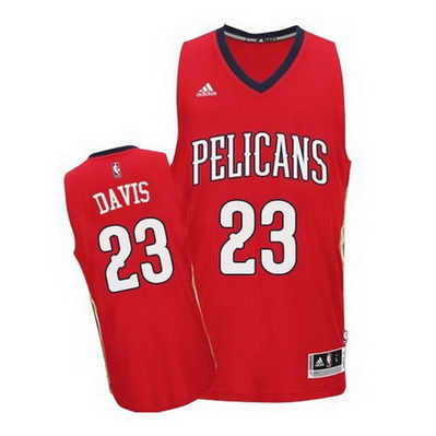 canotta anthony davis 23 new orleans pelicans rev30 rosso