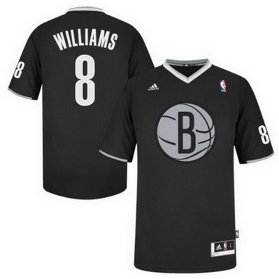 maglie uomo brooklyn nets natale 2013 deron williams 8 nero