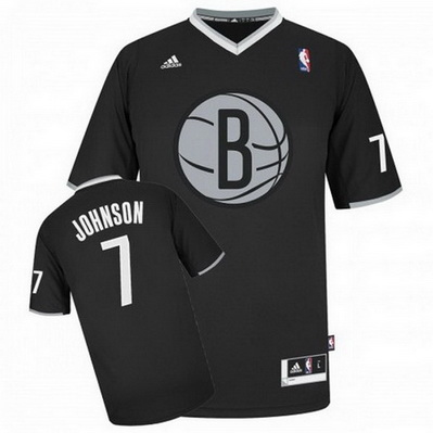 canotta uomo brooklyn nets natale 2013 joe johnson 7 nero