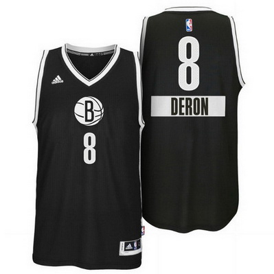canotte uomo brooklyn nets natale 2014 deron williams 8 nero