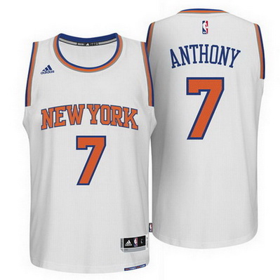 maglia carmelo anthony 7 2015 new york knicks bianca