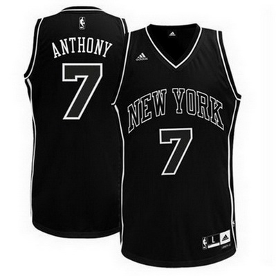 maglia basket carmelo anthony 7 2016 new york knicks nero