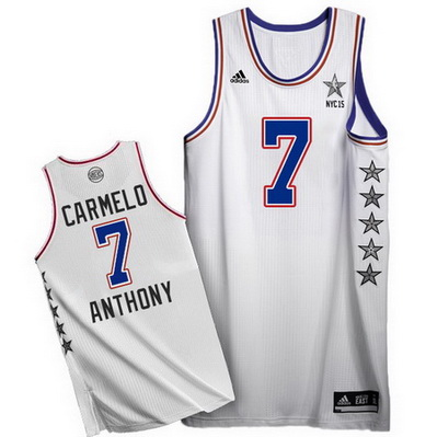 canotta uomo carmelo anthony 7 nba all star 2015 bianca