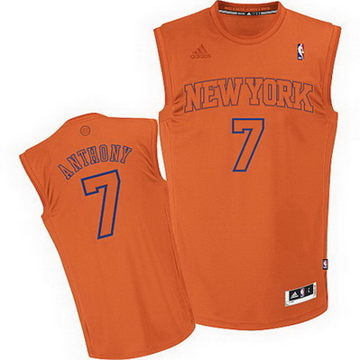 maglia basket carmelo anthony 7 new york knicks moda arancia