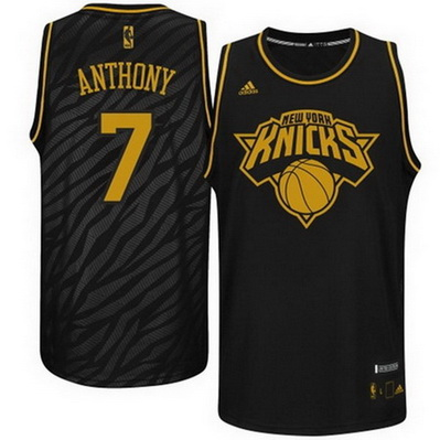 canotta basket carmelo anthony 7 new york knicks moda nero