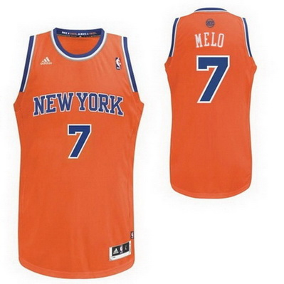 maglia carmelo anthony 7 new york knicks rev30 arancia