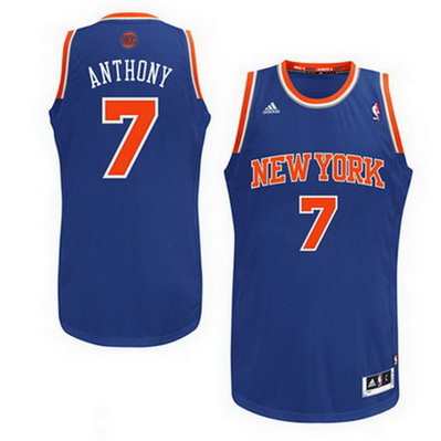 maglia nba carmelo anthony 7 new york knicks rev30 blu