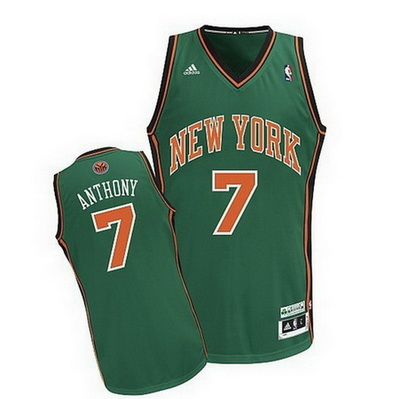 canotta nba carmelo anthony 7 new york knicks rev30 verde
