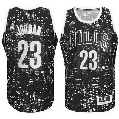 maglie basket chicago bulls michael jordan 23 lights nero