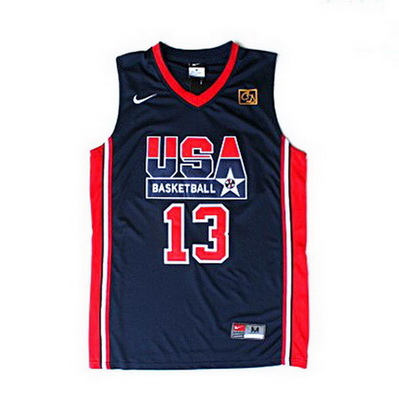 canotte uomo chris mullin 13 nba usa 1992 blu