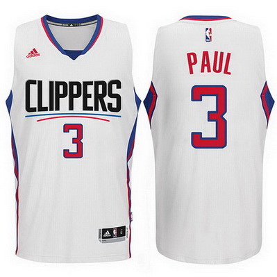 maglia chris paul 3 2016 los angeles clippers bianca
