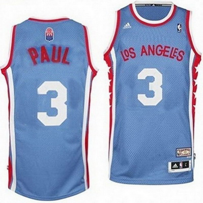canotta basket chris paul 3 los angeles clippers aba blu