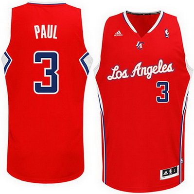 maglia chris paul 3 los angeles clippers rev30 rosso