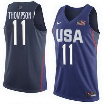 maglie basket uomo klay thompson 11 nba usa olimpiadi 2016 blu