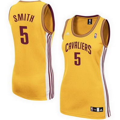 canotte nba donne cleveland cavaliers jr smith 5 giallo