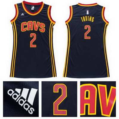 canotta basket donna cleveland cavaliers kyrie irving 2 blu