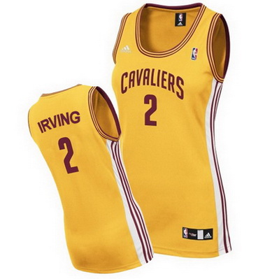 canotta nba donna cleveland cavaliers kyrie irving 2 giallo